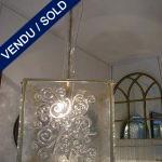 Ref : L67 - Paire de lanternes Verre de Murano - VENDU