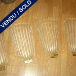 "Set of 4 sconces in glass of Murano ""SEGUSO"" - SOLD"