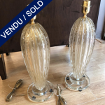 "Ref : LL370B - Paire of lamps in Murano glass signed on the base""Alberto Dona"" - SOLD"