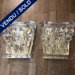 "Ref: LA242 - Suite de 4 appliques en verre de Murano ""Arte Veneziana"" - VENDU"