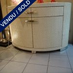 Set of buffets 2 gates and 2 drawers in woven leather - SOLD