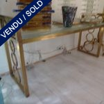 One bench steel + Murano - SOLD