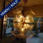 Murano doré 27 lumières - VENDU