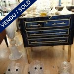 Ref : M993 - Set of commodes in mirror - 3 drawers - SOLD