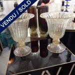 "Ref : V212  - Paire Murano ""TOSO"" - VENDU"
