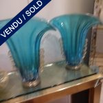 Set of vases in Murano blue/gold - SOLD