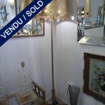 Ref : LL179 - Set of murano lamps whole in steel - SOLD