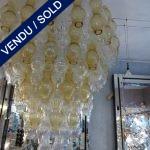 Verre de Murano ambre et transparent - VENDU