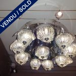Plafonnier Nickel Murano - VENDU