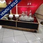 Ref : MT946  - Table basse Miroir et Métal - SOLD
