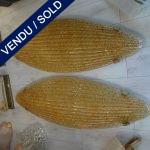 Ref : LA203 - Grandes appliques dorées - VENDU
