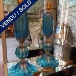 Ref : LL222 - Murano bleu - VENDU