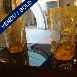 Ref : V260  - Paire verre de Murano doré - VENDU