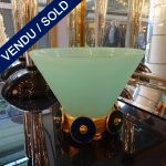 Ref AD28  - Coupe verre de Murano et bronze (2000) - VENDU