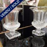 Ref : V263  - 2 vases en cristal Saint-Louis Modèle Versailles de 1921 - VENDU