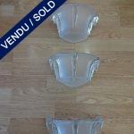 Ref : LA206 - 1 paire appliques verre - SOLD