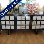 Ref : M213 - Buffet 2 gates / 3 drawers Tinted glass - SOLD