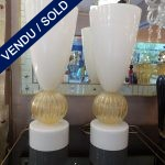Ref : LL235 - Set of Murano lamps - SOLD