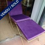 Ref : MC758 - Paire chaises + repose-pieds - SOLD