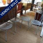 Ref : MC759  - 4 chaises de jardin XIXème Métal - VENDU