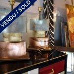 Ref : LL238  - Paire lampes Murano - SOLD