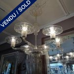 Ref : L932 - Lustre Murano 6 coupelles - SOLD