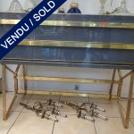 Ref : M218 - Commode en verre teinté 2 tiroirs Murano - VENDU