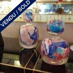 Ref AD31 - 2 flacons verre de Murano - VENDU