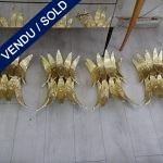 Ref : LA211  - Suite de 4 Verre de Murano - VENDU