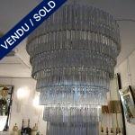 Ref : L935  - Lustre Murano 8 rangs - VENDU