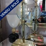Ref : LL951 - Paire de Murano et laiton - VENDU