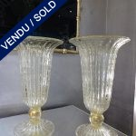Ref : V281 - Paire de vases Murano - VENDU