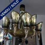 Ref : L938 -  - Verre de Murano et laiton - VENDU