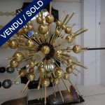 Ref : L939 - Verre de Murano et laiton - VENDU