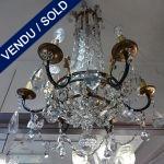 Ref : L941 - Fer forgé et cristal - VENDU