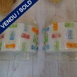 Ref : LA221 - Paire d'appliques Murano - VENDU
