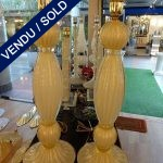 Ref : LL959 - Paire de lampes Murano - SOLD