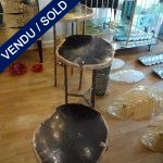 Ref : MT947 - Petrified Stone table - SOLD