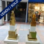 Ref : LL970 - Paire Murano et laiton - SOLD