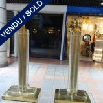 Ref : LL972 - Paire Murano et laiton - SOLD