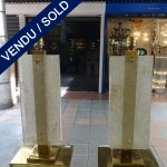 Ref : LL973 - Paire Murano et laiton - SOLD