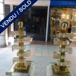 Ref : LL975 - Paire Murano et laiton - SOLD