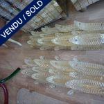 Ref : LA225 - Paire Murano et laiton - VENDU