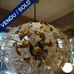 Ref : L944 - Lustre avec plaques Louis Vuitton - VENDU
