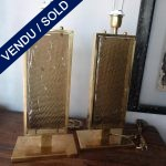 Ref : LL980 - Paire Murano et laiton signé TOSO - SOLD