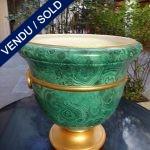 Ref : V282 - Jardinière en faïence signée Christian Dior - VENDU