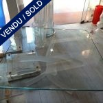 Ref : MT948 - Table with Murano feet - SOLD