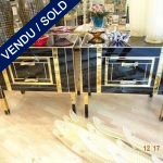 Ref : M224 -  - Pair of mirror chests of drawers signed - SOLD
