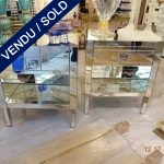 Ref : M226  - Pair of mirrored commodes - SOLD