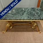 Ref : MT949  - Tiny table iron and marble - SOLD